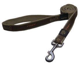 Rogz Fancy Dress Beach Bum Fixed Dog Lead Large - 20mm Bronze Bone