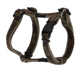 Rogz Fancy Dress Scooter Dog H-Harness Medium - 16mm Bronze Bone