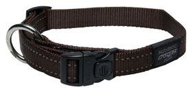 Rogz Utility Lumberjack Dog Collar Extra Large - 25mm Chocolate Reflective
