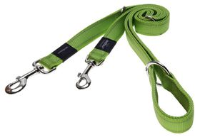 Rogz Utility Snake Multi-Purpose Dog Lead Medium - 16mm Lime Reflective