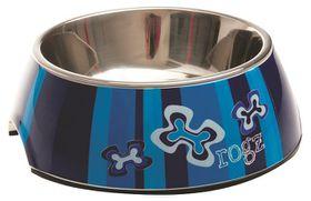 Rogz 2-in-1 Bubble Dog Bowl Extra Large - 1400ml Indigo Bone