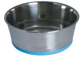 Rogz Stainless Steel Slurp Dog Bowl Extra Extra Large - 3700ml Blue Base