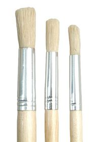 Dala 504 Round Pure Bristle Paint Brush - Set of 3 Brushes