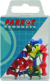 Parrot Thumbtacks - Blue - Pack of 25