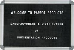 Parrot Letter Board - Black