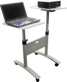 Parrot Data Projector & Laptop Trolley - Steel