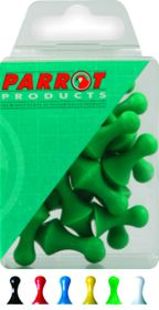 Parrot 16mm Magnet Map Pins - Green (Pack of 25)