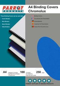 Parrot A4 Chromolux 250 Gsm Binding Cover - Royal Blue