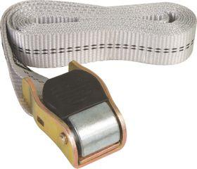 X-Strap - Quick Release Cam Buckle Tie Downs - Black & Silver (2.4M X 25Mm)