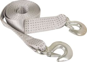 X-Strap - 4M Towing Strap With Steel Hooks - Black & Silver