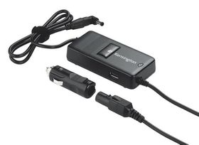 Kensington Auto & Air Laptop Power Adapter With USB Powered Port - Black