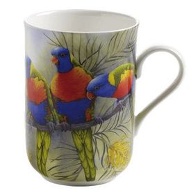 Maxwell and Williams - Lorikeets Decal Mug - 300ml Multi-Coloured