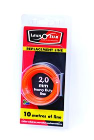 Lawn Star - 2.0mm x 10m Replacement Coil Line - Single Pre-Pack