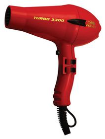 Heat Turbo 3300 Hairdryer - Black & Red