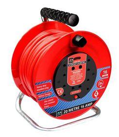 Masterplug - Cable Reel - Red & Black 20m