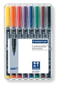 Staedtler Lumocolor 8 Permanent Broad Markers