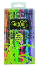 Pilot Frixion Light Erasable Highlighters - Wallet of 6 Colours