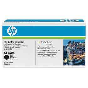 HP # 649X CLJ CP4525 Black Print Cartridge. Prints approximately 17 000 pgs using the ISO/IEC 19798 yield standard