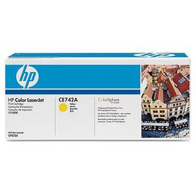 HP # 307A Color LaserJet CP5225 Yellow Print Cartridge. Prints approximately 7 300 pgs using the ISO/IEC 19798 yield standard