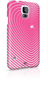 Samsung Galaxy S5 White Diamond Heartbeat Cover - Pink