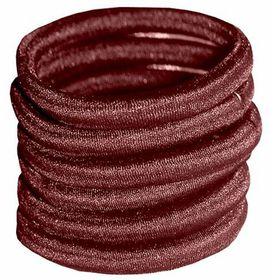 Chic Non-Join Hair Elastic Bands 6 Pack - Brown