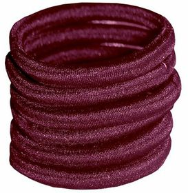 Chic Non-Join Hair Elastic Bands 6 Pack - Maroon