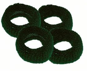 Chic Harmfree Hairing Band 4 Pack - Bottle Green