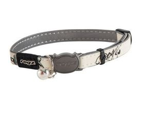 Rogz - Catz GlowCat Reflective Glow-In-The-Dark Safeloc Breakaway Cat Collar - Black