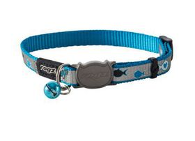 Rogz Catz ReflectoCat Small Reflective Safeloc Breakaway Cat Collar - Blue