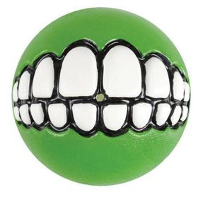 Rogz Grinz Large Dog Treat Ball - Lime