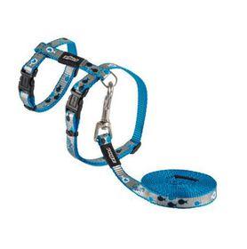 Rogz Catz ReflectoCat Extra Small Reflective Cat H-Harness And Lead Combination - Blue