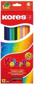 Kores Kolores 12 Triangular Coloured Pencils and 1 Sharpener