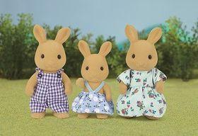 Sylvanian Family Ocher Rabbit Familly