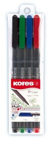 Kores K-liner Triangular Fineliners (Wallet of 4)