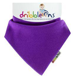Dribble Ons - Bright Baby Bib - Purple