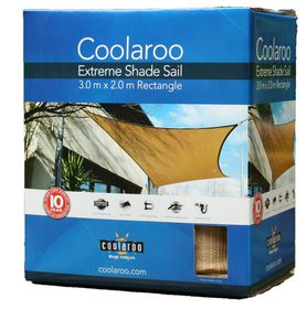Coolaroo - Extreme Shade Sail Rectangle - Desert Sand
