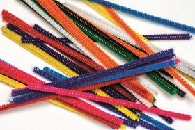 Dala Pipe Cleaners - Thin Assorted Colours (20 Pieces)