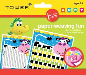 Tower Kids Paper Weaving Fun - Cow