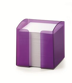 Durable Paper Note Box - Translucent Purple