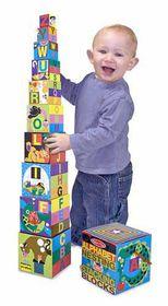 Melissa & Doug Alphabet Nesting & Stacking Blocks (Cardboard)