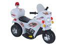 Fine Living Police Motor Bike - White