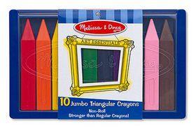 Melissa & Doug Jumbo Triangular Crayons - 10 Piece