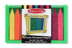 Melissa & Doug Jumbo Fluorescent Crayon Set