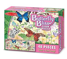 Melissa & Doug Butterfly Bliss Floor Puzzle - 48 Piece