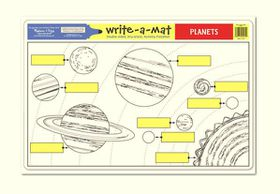 Melissa & Doug Planets Write-A-Mat - Bundle of 6