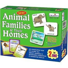 Creatives Toys Animal Families &Their Homes-2 in One Go