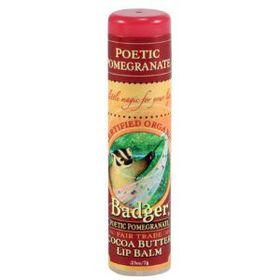 Badger Cocoa Butter Poetic Pomegranate Lip Balm Stick