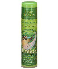 Badger Cocoa Butter Lip Balm Lime Rocket - Organic