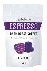 Caffeluxe Dark Roast Espresso Capsules