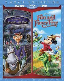 Adventures Of Ichabod & Mr Toad / Fun & Fancy Free - (Region A Import Blu-ray Disc)